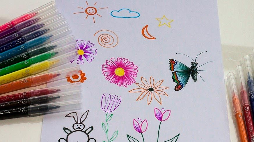 Открытка для мамы нарисовать фломастерами